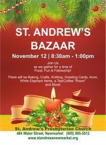 St. Andrew's Bazaar @ St. Andrew's Presbyterian Church   Newmarket   Ontario   Canada