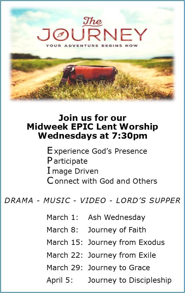 EPIC Lent Worship -Wednesdays