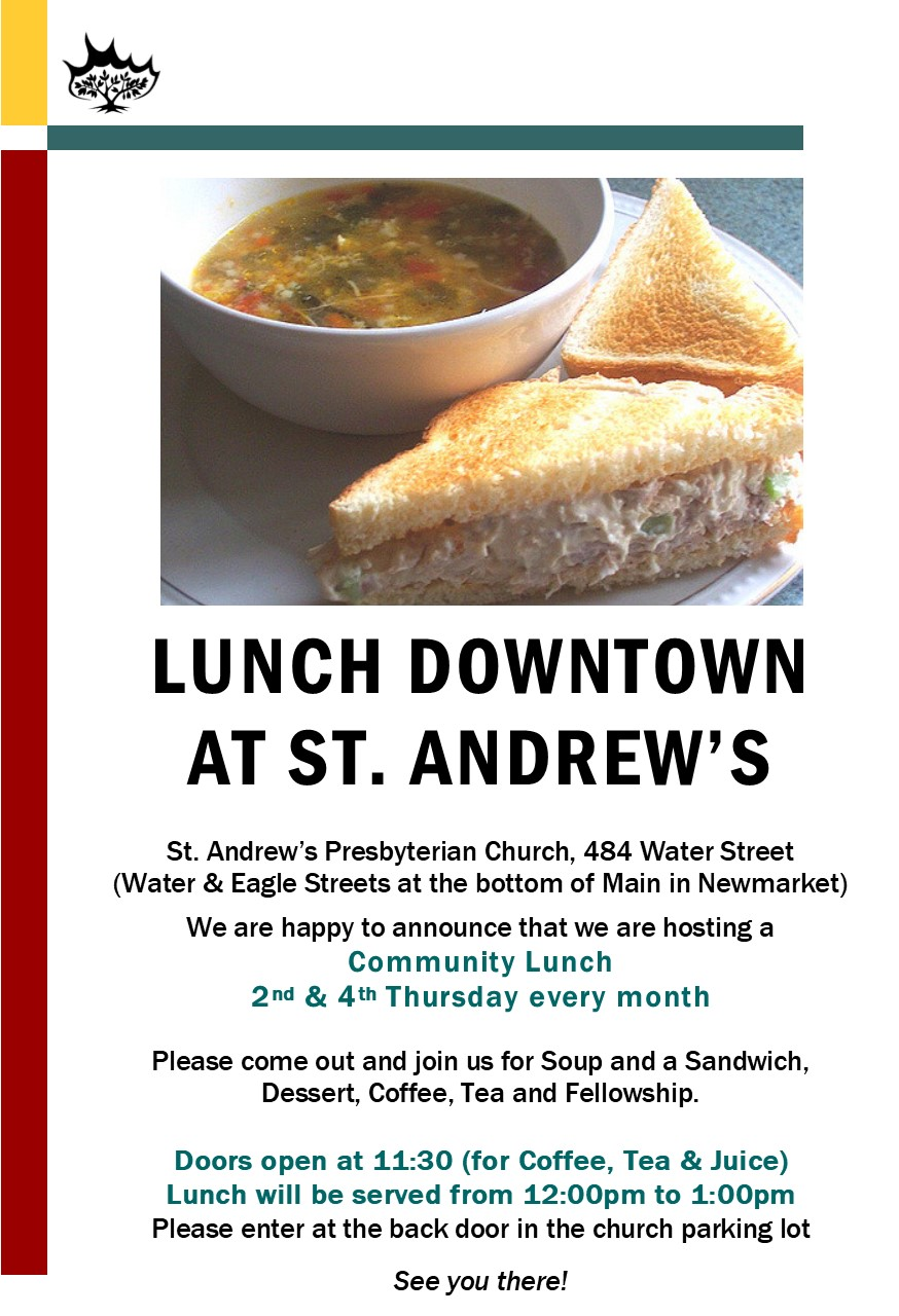 Community Lunch @ St. Andrew's Presbyterian Church | Newmarket | Ontario | Canada