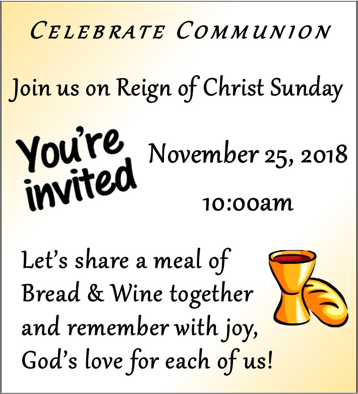 Reign of Christ Sunday & Communion