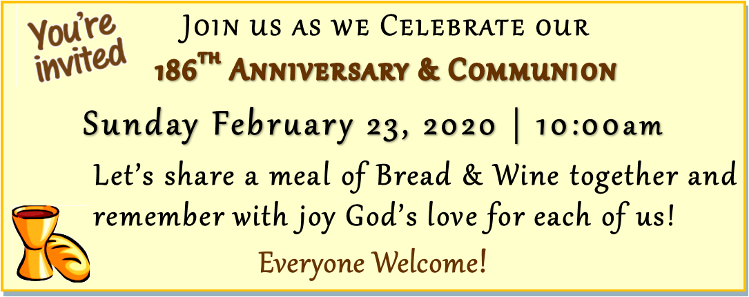Communion & 186th Church Anniversary