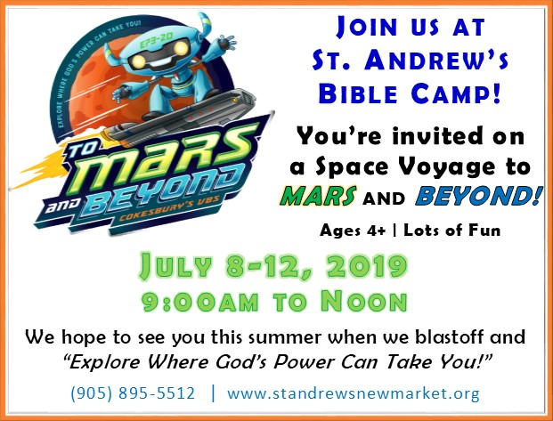 Bible Camp July 8-12, 9am-Noon, Ages 4+