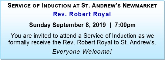Induction: Rev. Robert Royal