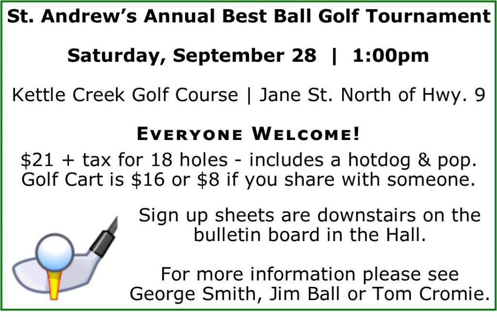 Best Ball Golf Tournament